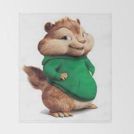 Theodore the cutes chipmunk Throw Blanket