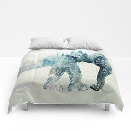 Vanishing Elephant  Comforters