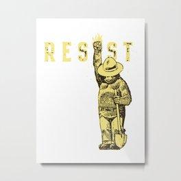 resist the bears Metal Print