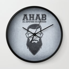 ALL HIPSTERS ARE BASTARDS - Funny (A.C.A.B) Parody Wall Clock