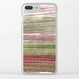 Striped abstract Clear iPhone Case