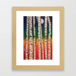 CHAKRA RAINBOW FOREST Framed Art Print