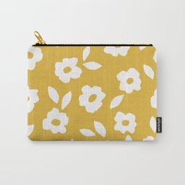 Simple Hand Cut Floral | Yellow Carry-All Pouch