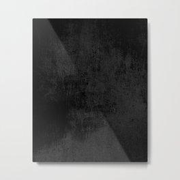 Black concrete Metal Print