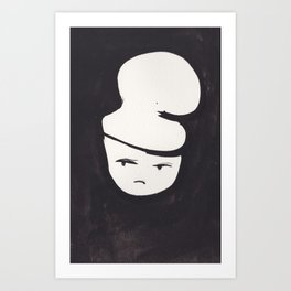 Catty Does Not Approve   | 181218 Faces Watercolour Kawaii Art Print