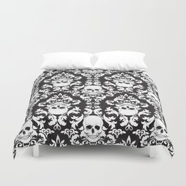 Skull Damask Duvet Cover