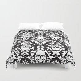 Skull Damask Duvet Cover