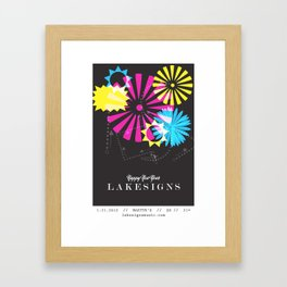 Lakesigns Poster - Martyr's 1-21-2012 Framed Art Print