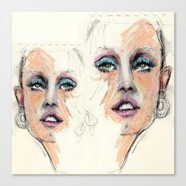 Portrait study. Rough sketch Canvas Print