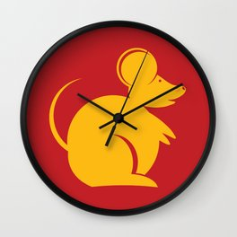 Year of the Rat. Chinese New Year 2020 Wall Clock