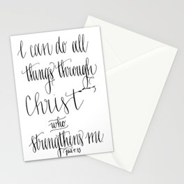 All things through Christ! Stationery Cards