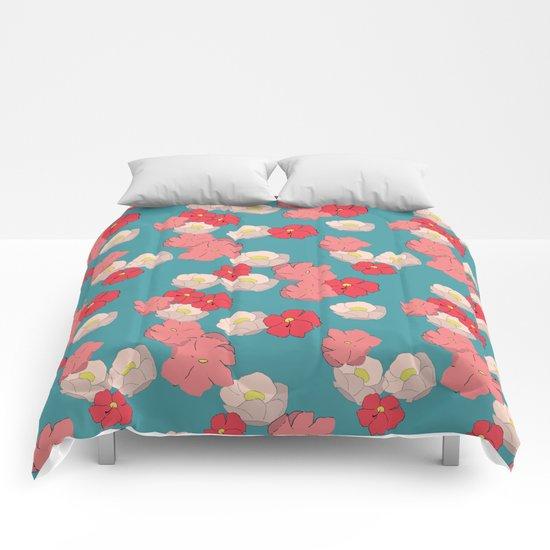 Blooming graphic Comforters