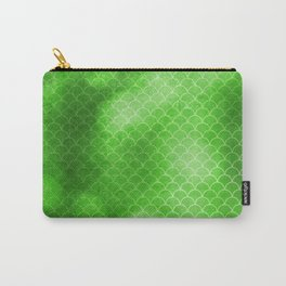 Green Flash small scallops pattern with texture Carry-All Pouch