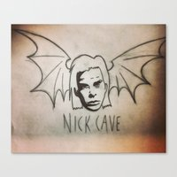 nick cave Canvas Prints featuring NICK CAVE by Kazimir Simpson