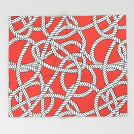 Red Rope Pattern Throw Blanket