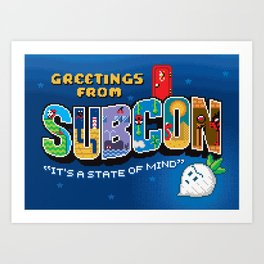 Greetings from Subcon Art Print