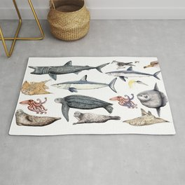 Marine wildlife Rug