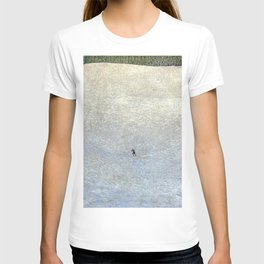 Plight of the Lonely Skier, Snowy Alpine Landscape by Cuno Amiet T-shirt