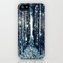 Magical Forest Teal Gray Elegance iPhone Case