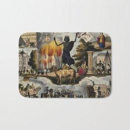 Various apocalyptic scenes, including cholera, earthquake, war, and shipwreck (1836) Bath Mat