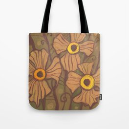 Yellow-eyed flowers Tote Bag