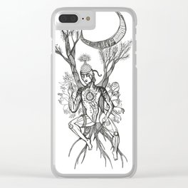 Buddha Under Bodhi Tree Clear iPhone Case