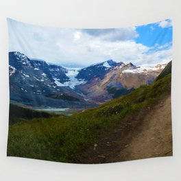 Athabasca & Snowdome Glaciers in Jasper National Park, Canada Wall Tapestry