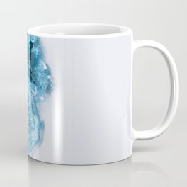 Abstract Aerial Lake in Iceland – Minimalist Landscape Photography Coffee Mug