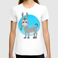 donkey T-shirts featuring Little donkey by tuditees