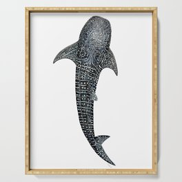 Whale shark for divers, shark lovers and fishermen Serving Tray