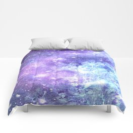 Grunge Galaxy Lavender Periwinkle Blue Comforters