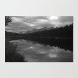 Lake Shadows - Canadian Rockies Canvas Print