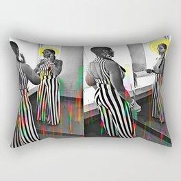 CareFreeBlackWoman Rectangular Pillow