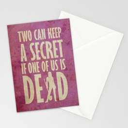 Can you keep a secret? (PINK) Stationery Cards