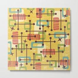 Mid Century Modern Abstract Pattern 773 Metal Print