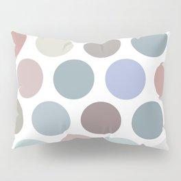 Polka dot pattern. Pastel color dot on white background Pillow Sham