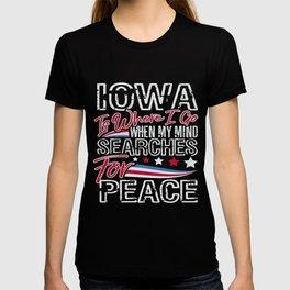 Iowa American Patriotic Memorial Day T-shirt