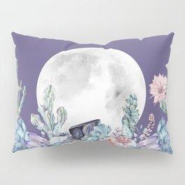 Desert Nights Gemstone Oasis Moon Purple Pillow Sham