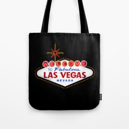 Welcome to Fabulous Las Vegas Nevada Vintage Sign on dark background Tote Bag