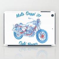 moto iPad Cases featuring moto guzzi - cafe racer by dareba