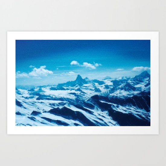Winter Wonderland up in the Mountains #1 #art #society6 Art Print
