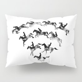 Connected to Showjumping (Black) Pillow Sham