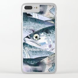 Eat Fish Clear iPhone Case