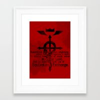 alchemy Framed Art Prints featuring Alchemy by KanaHyde