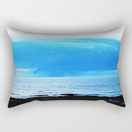 Storm Funnels Above the Sea Rectangular Pillow