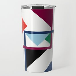 Luxe coloured shapes in an abstract pattern Travel Mug