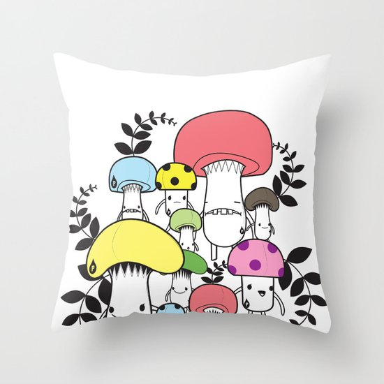 WELCOME TO MUSHROOM LAND - EP.547 VE Throw Pillow