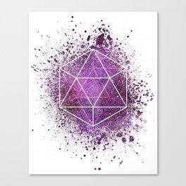 d20 Icosahedron Crystal Wind Canvas Print