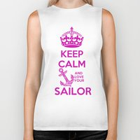 keep calm Biker Tanks featuring KEEP CALM by Lonica Photography & Poly Designs