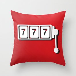 Triple Seven Slot Machine Throw Pillow